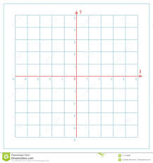 Cartesian Coordinate System On Blue Graph Paper Stock Vector