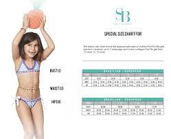 B Swim Size Chart Size Chart Kids Sabz Swimwear