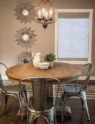 rustic round kitchen table sets