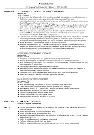 Download Reconciliation Specialist Resume Sample as Image file