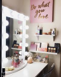 cute and pact makeup vanity