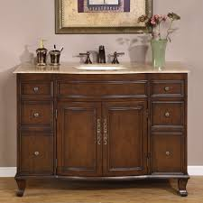 48 inch antique brown single sink bathroom vanity with