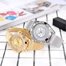 Ladies Designer Bling Watches Details About Gold Silver Chronograph Designer Style Ladies Watches Women Crystals Bling Watch