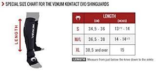 Shin Guard Size Chart Venum Kontact Evo Shin Guards