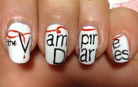 Vampire Diaries Nail Art Tutorial (REQUEST) - YouTube
