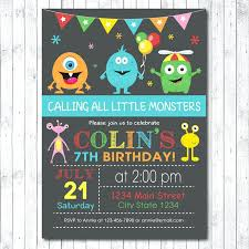 Lil Monster Birthday Invitations Little Monster Birthday Invitations Marvelous Little Monster