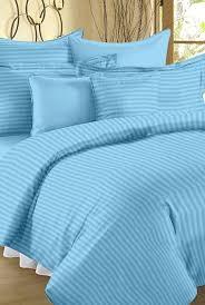 ahmedabad cotton sky blue striped double duvet cover set at best tata cliq