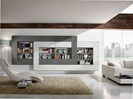 Living Room Designs With Leather Furniture Captivating Bright Bookcase Ideas For Living Room Design On Sleek