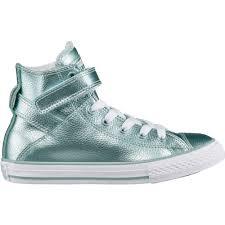 converse shoes high tops for girls. converse girls\u0027 chuck taylor all star stingray metallic brea high-top shoes - view high tops for girls