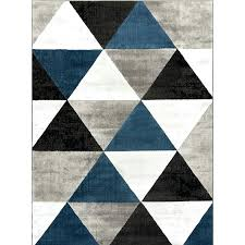 geometric design area rugs light blue rug 9x12 wrought studio mid century modern retro shapes gray