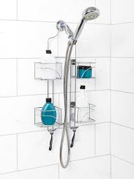 zenna home 7446ss expandable over the showerhead caddy chrome