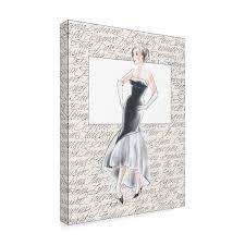 Trademark Fashion Design Amazon Com Trademark Fine Art 50s Fashion Ix By Elissa