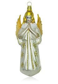 Lauschaer Glas Großer Engel Weiß Matt Christbaumschmuck