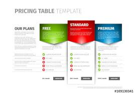Pricing Table Templates Three Tier Pricing Table Layout Buy This Stock Template
