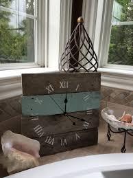 14 x 14 wall clock reclaimed wood pallet clock