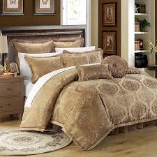 Amazon.com: Chic Home 9 Piece Como Decorator Upholstery Quality Jacquard  Motif Fabric Bedroom Comforter Set U0026 Pillows Ensemble, Queen, Gold: Home U0026  Kitchen
