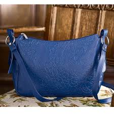 embossed leather bag