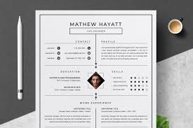 One Page Resume Template Resume Templates Creative Market