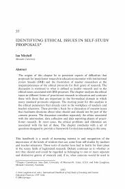 Identifying Ethical Issues In Self Study Proposals Springer
