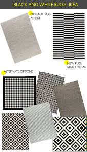 black and white rugs from ikea life in sketch
