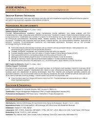 Resume Desktop Support Analyst Resume Sample