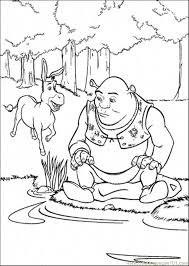 Small Picture Donkey And Shrek Coloring Page Free Shrek Coloring Pages