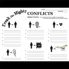 the mighty conflict graphic organizer types of conflict freak the mighty conflict graphic organizer 6 types of conflict