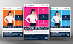 16 Computer Repair Service Flyers Psd Template Simple