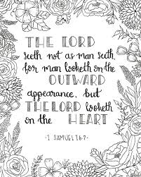 Small Picture Printable Coloring Page 1 Samuel 167 The Lord Looketh