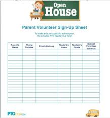Parents Sign In Sheet School Open House Sign In Sheet Template Free Download Them Or Print