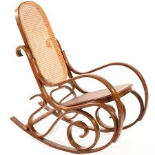 wicker rocking chair. Thonet Style Bentwood Wicker Rocking Chair D
