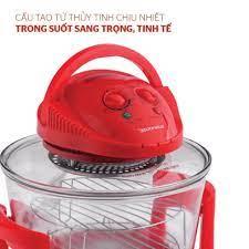 Lò nướng thủy tinh 12 lít Sunhouse SH416 đỏ giá cạnh tranh