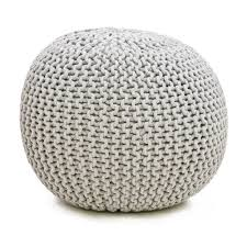 Knitted Poufe