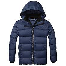 Padded and quilted | Boys' Coats, Jackets & Gilets | John Lewis & Buy Tommy Hilfiger Boys' Quilted Jacket, Navy Online at ... Adamdwight.com