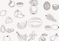 Fruits Coloring Pages For Kids Printable With Unique Fruit Coloring