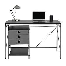 Contemporary desks for office Computer Brenton Studio Achiever Contemporary Metal Desk With File Black Odelia Design Brenton Studio Achiever Desk Wfile Black Office Depot