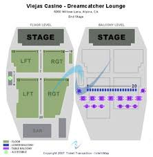 Viejas Casino Seating Chart Dreamcatcher Lounge At Viejas Casino Tickets And