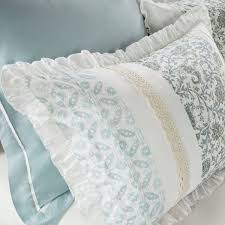 madison park dawn duvet cover cal king size aqua fl shabby chic duvet cover set 9 piece 100 cotton percale light weight bed comforter covers