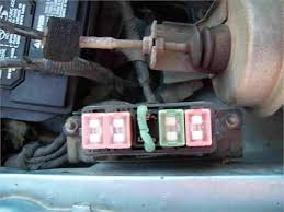 solved i started a mazda xli the battery fixya am attaching a picture of the fuse box the fuse box shows electrical current flowing by using a tester tho