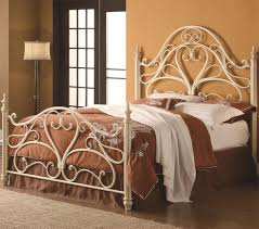 metal bed headboard queen.  Bed Coaster Queen Ornate Metal Headboard U0026 Footboard By Coaster The Iron Beds  And Headboards Bed With Egg Shell Finish  To P
