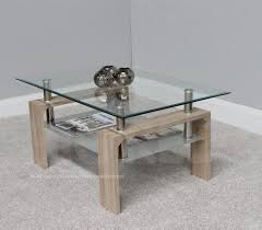 rectangle coffee table with clear glass top chrome