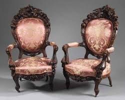 Victorian Rococo Revival Parlor Chairs - J.W. Meeks