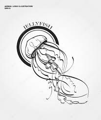 логотип медузы абстрактные медуза логотип векторное изображение