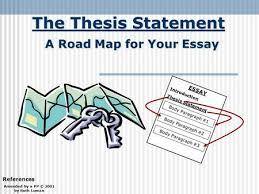 the thesis statement a road map for your essay essay introduction  similar presentations