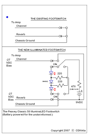 installing led s into amp footswitch guitarnutz 2 in schematic form