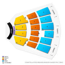 Constellation Brands Performing Arts Center 2019 Seating Chart