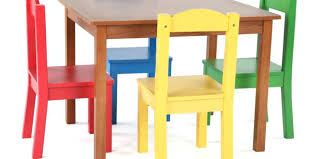 kids table and chairs table chairs kids tot tutors highlight 5 piece natural primary kids table