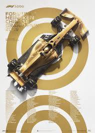 George russell black and white poster. Automobilist Reveals Official 2019 Chinese Gp Posters For 1000th F1 Race