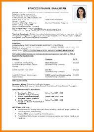 International Biodata Format Template It Resume Format Pdf Simple Resume Format Sample