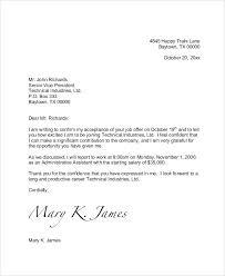 Formal Job Offer Template Sample Job Offer Acceptance Letter Email Template Rejection